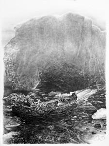 Escape Pod with Iceberg